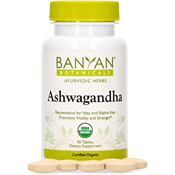 Banyan Botanicals Organic Ashwagandha Supplement – Withania somnifera – for Adrenal Support, Healthy Immune System, Stress Relief, Strength & More* – 90 Tablets – Non-GMO Sustainably Sourced Vegan