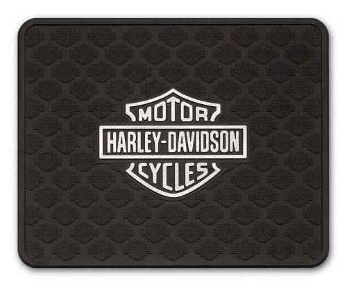 Harley-Davidson P1010 - Tappetino multiuso con logo a barra e scudo, 14 x 17 cm, colore: Argento