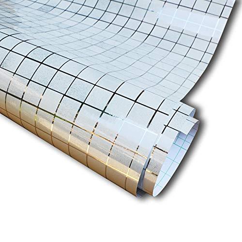 Speedcoming Vinyl Oliebestendige Muurstickers Home Decor Zelfklevende Behang PVC Mozaïek Tegel voor Badkamer Keuken Grootte 45Cmx500Cm Kleur: wit
