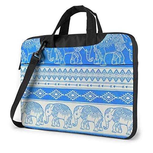 Blue Ele-phant Unisex Laptop Bag Messenger Shoulder Bag for Computer Briefcase Carrying Sleeve