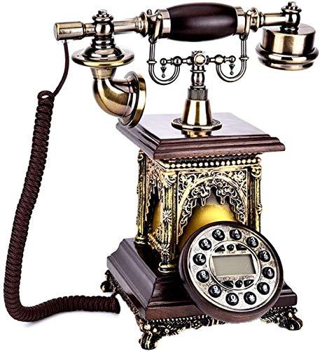 ZHANGNING Teléfono Fijo con Cable Botón Dialold Vintage Antiquerequephone Estilo Occidental Vintage Antiguo Números de teléfono Almacenamiento Teléfono Fijo Retro