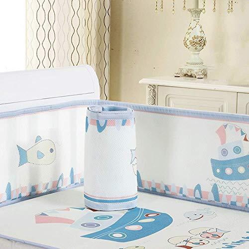 Doublure de lit de bébé en maille respirante, coussins de protection de lit de bébé pour lit de bébé standard