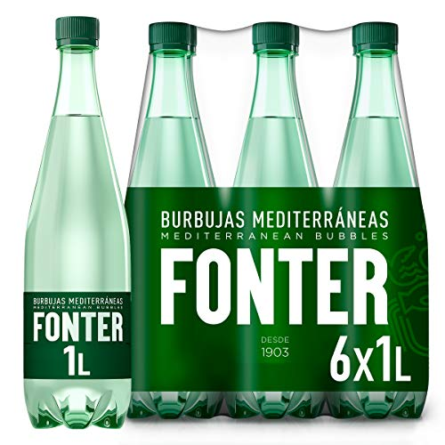 Fonter, Agua Mineral con gas - Pack de 6 x 1L