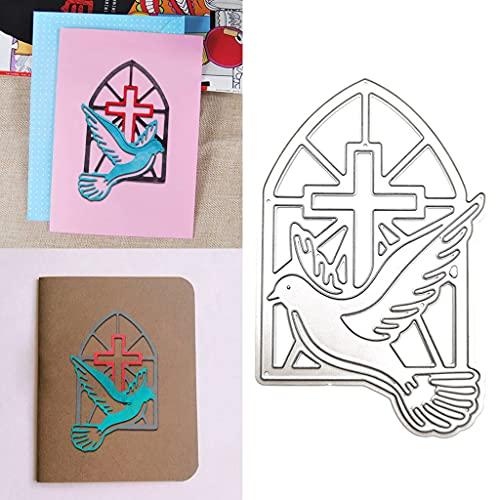 ShiftX4 Stanzschablonen, christliche Friedenstaube, Metall-Stanzformen, Schablone, Scrapbooking, DIY, Album, Stempel, Papierkarte, Prägung