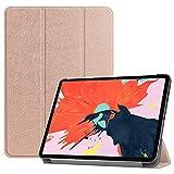 fitmore Funda Compatible para iPad Pro 12.9 Inch 2020, Ultra Slim Flip Carcasa de PU Cuero Case...