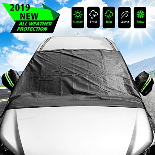 ELUTO Car Windshield Snow Cover Frost Guard Windshield Cover for Ice and Snow with Mirror Covers Winter Non Scratch Waterproof...
