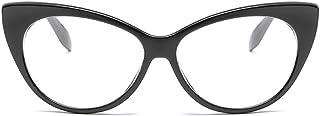 Women Retro Cateye Oval Sunglasses Vintage Triangle Glasses