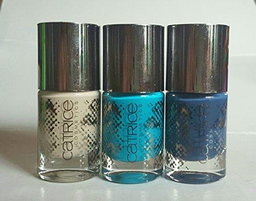 NEW Nail Art Vernis à ongles Set de 3 Catrice Cosmetics Édition limitée RETROSPECTIVE C01 + C02 + C03 10 ml Nail Vernis à ongle Nail Pen Lot d'accessoires