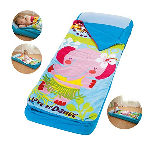 ZXL Kids Air Bed met Slaapzak Opbergtas, Camping Air Matrassen, Baby Flocked Air Beds, Draagbaar Reisbed, Eenpersoons Verdikte Opblaasbare matras voor kinderen