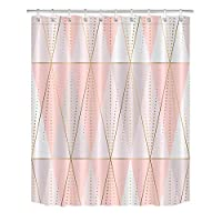`Star Empty シャワーカーテンシャワーカータイ 幾何学的シャワーのカーテンポリエステルの生地の浴室のカーテン防水とうどんこ病の証拠の家の装飾 (Color : Curtain, Size : 120x175cm 40x70inch)
