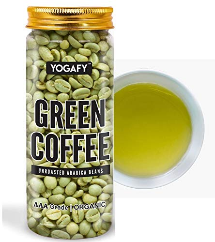 YOGAFY- Organic Green Coffee Beans - 150 Gram | For Immunity Building and Weight Loss Program | AAA Grade 100% Unroasted Arabica...