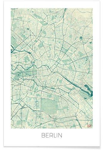 "JUNIQE® Stadtpläne Berlin Poster 80x120cm - Design ""Berlin Vintage"" entworfen von Hubert Roguski"