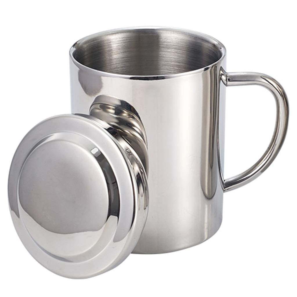 Portable Stainless Steel Curved Double Wall Mug Travel Tumbler Cup 200ml