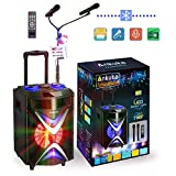 Portable Bluetooth Karaoke Machine, Ankuka Wireless PA Speaker Sound System with USB Disco...