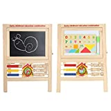 JOKFEICE Pizarra de Pie Caballete Multifuncional 3 en 1 Pizarra magnética de Doble Cara Caballete de Arte Caballete de Juguete Educativo temprano para niños Tiempo de Juego