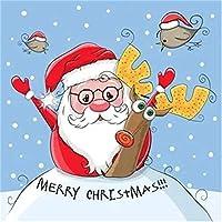 クリスマスパズル300ピースサンタとメガネアートレジャーゲームおもちゃ家の装飾38X52cm