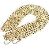 pofet - tracolla a catena di ricambio per borse, 120cm - dorata