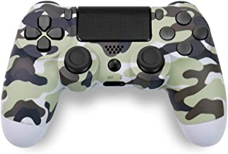 Game Controller for PS4,Wireless Controller for Playstation 4 with Dual Vibration Game Joystickfor Ps4/Pro/Slim-Gray Camou...