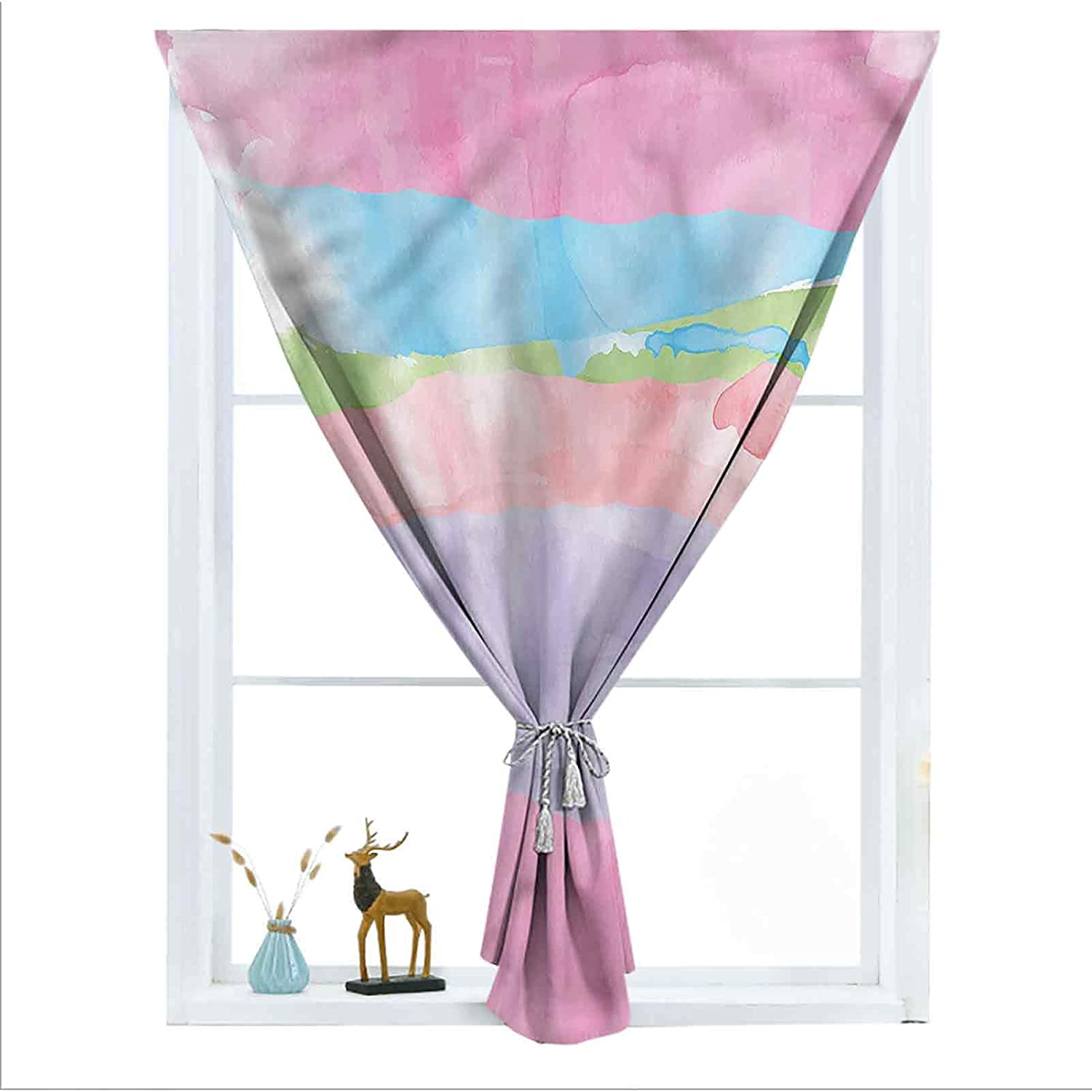 ousente Abstract Decorative Room Darkening Paint outlet Small Curtains Cheap mail order shopping