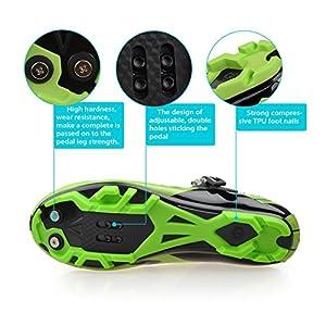 GUTANG-DC Zapatillas de MTB - Zapatillas Unisex Suelas de Carbono