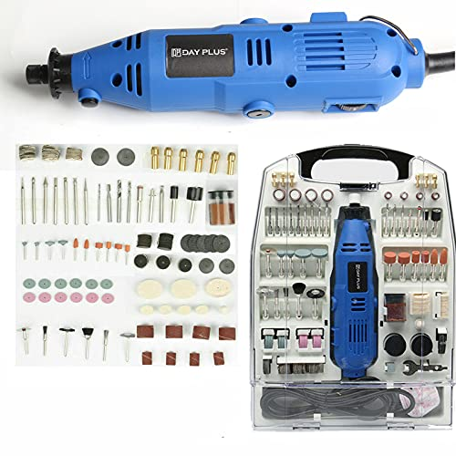 234Pcs Accessories Power Rotary Tool Multi Tool Combi Tool Variable 6 Speed 10,000-32,000rpm Mini Drill for DIY Creations, Craft Projects, Drilling, Cutting, Sanding, Polishing and Engraving