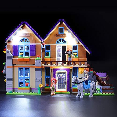 BRIKSMAX Led Beleuchtungsset für Lego Friends Mias Haus mit Pferd,Kompatibel Mit Lego 41369 Bausteinen Modell - Ohne Lego Set