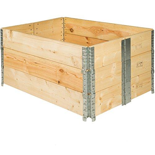 TecTake Hochbeet Rahmen faltbar 120 x 80 x 19 cm - Diverse Mengen - (3X Hochbeet | Nr. 402272)
