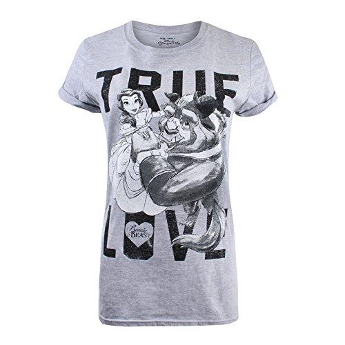 Disney True Love T-Shirt, Grigio (Sport Grey Spo), 42 (Taglia Produttore: S) Donna