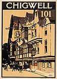 Vintage viaje Chigwell en bosque de Epping, Essex c1914250gsm brillante Art Tarjeta A3reproducción de póster