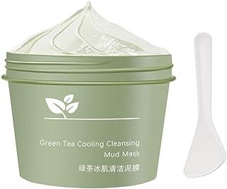 Groene thee gezichtsmasker, 100g groene theekoeling reinigende moddermasker, gezichtsontwikkeling diep reinigend masker, a...