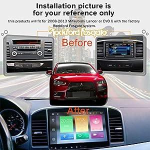 Android 9.0 Pie Car Stereo for Mitsubishi Lancer EVO X 8 Core 4G Ram Radio GPS Navigation Head Unit