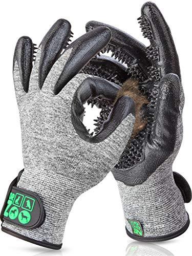 DR Zoo Gr. S Paar Fellpflegehandschuh zur Fellpflege durch Handschuh für Hund und Katze