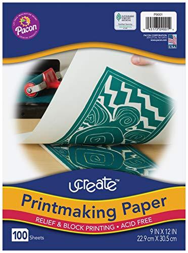 Pacon Printmaking Paper, White, 9'x12', 100 Sheets