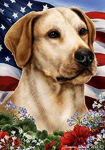 Best of Breed Yellow Labrador Patriotic Garden Flags