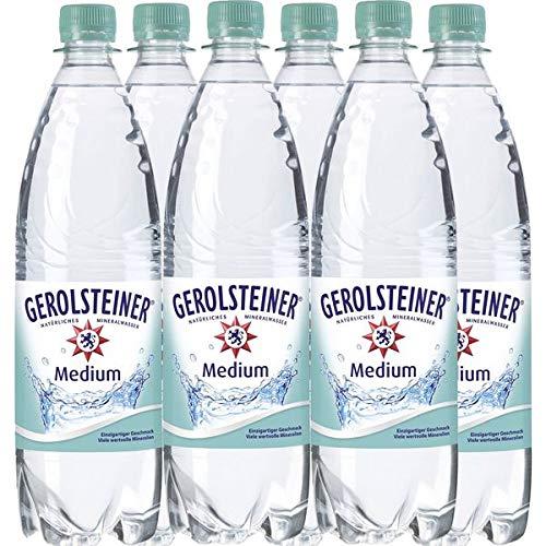 Mineralwasser Gerolsteiner Medium incl. 0,90EUR Pfand (6 x 1,0L Flaschen)