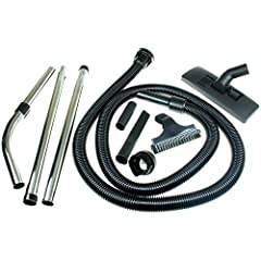 """First4Spares Premium Tool Kit for Numatic Henry Canister Vacuum Cleaners (2.5m/ 8ft) Premium quality tool kit built for Numatic Henry, Hetty George canister vacuum cleaners Tool kit consists of 8 ft flex hose, 11.8"""" Floor tool with retactable brushes..."""