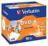 Verbatim (43521) : DVD-R 16x 10-pack : Printable Optical Media