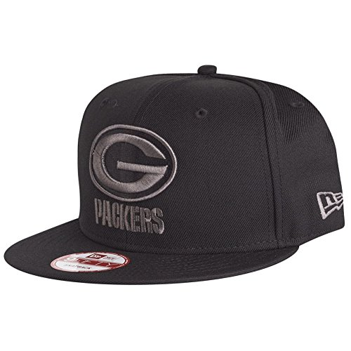 New Era Green Bay Packers Black/Graphite 9Fifty Cap - One-Size