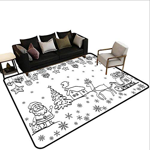 Tapijt liner voor tapijt Kerstmis, verrassingsdozen met rijke patronen en vakantie vogels brengen wanten sokken, hebzucht rode Beige