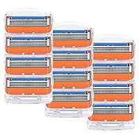 YFAXrb 16PCS /箱カミソリ男性フェイスケア5つのレイヤーシェービングカセットステンレス鋼の安全ブレードスーツ シェーバー (Color : 12pcs)