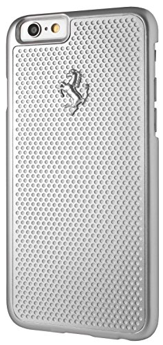 Ferrari FEPEHCP6SI geperforeerde aluminium plaat hard case voor Apple iPhone 6/6S zilver
