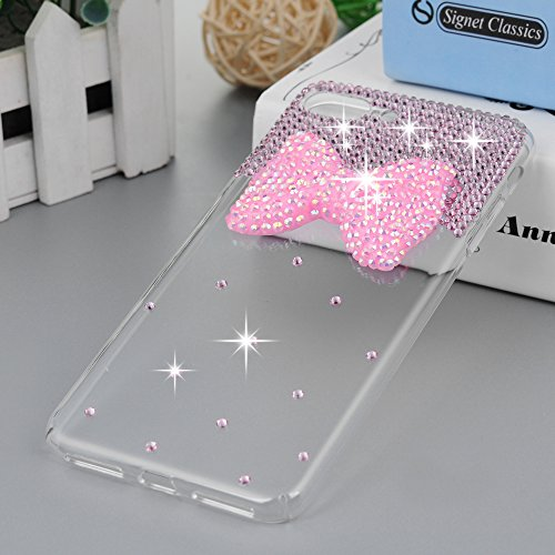 "iPhone 7 Plus Case (5.5"")-MOLLYCOOCLE Crystal Clear Transparent Handmade Bling Shiny Crystal Diamond Design PC Hard Shell Full Protective Case Cover for iPhone 7 Plus,Butterfly Bow Photo #8"
