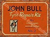 John Bull Antigua Garaje Vintage Publicidad Motor Reparación De Neumáticos Cars & Motocicletas Británico garaje vintage Anuncio Metal/Cartel De Acero Para Pared - acero, 30 x 40 cm