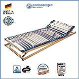 RAVENSBERGER MEDI XXL 5-Zonen-30-Leisten-BUCHE- Schwergewichtsrahmen | Verstellbar | Made IN Germany - 10 Jahre GARANTIE | TÜV/GS + Blauer Engel - Zertifiziert | 90 x 200 cm