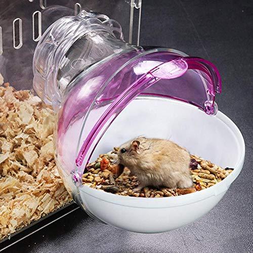 miss-an Mini Hamster Sand Bad, Kleinen Tier Kunststoff Hamster Badezimmer WC, Bad Sand Raum Sauna Badewanne für Hamster Chinchillas und Andere Kleine Haustiere
