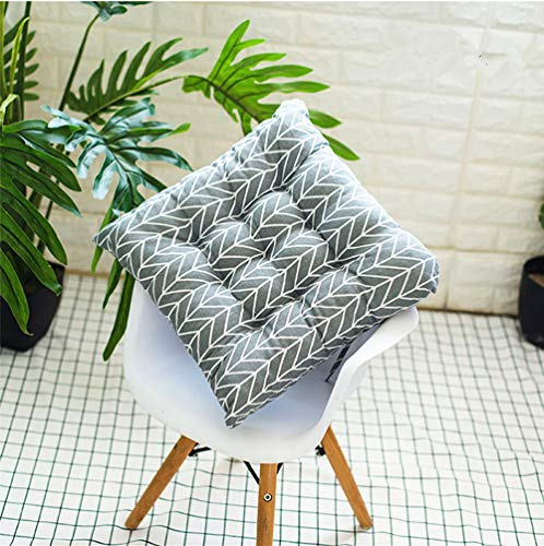 GLITZFAS Sitzkissen 2 Stück Stuhlkissen Sitzauflage Gartenstuhlkissen, Sitzkissen für Innen- und Außenbereich (50 x 50 cm,Wellenstreifen)