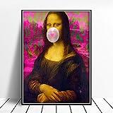 CNHNWJ Mona Lisa Bild Poster Wohnkultur Leinwand Abstrakt
