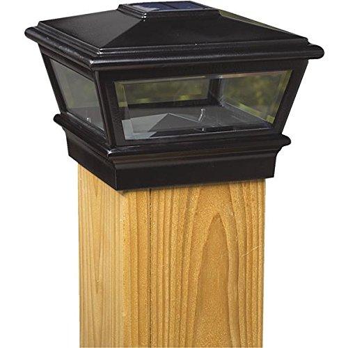 6x6 Blk Solar Post Cap