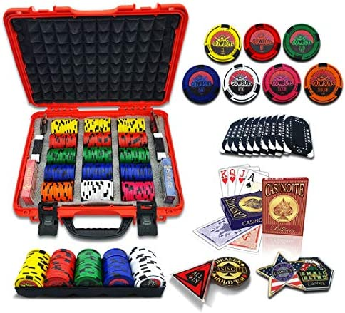 CASINOITE High Rollers Poker Chips Set 300 Pcs with 10 Plaques Rodeo Cowboy 45mm Casino Style product image