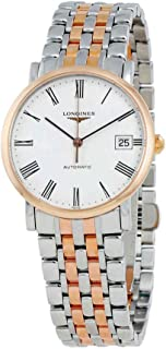 Longines Elegant White Dial Steel and 18K Rose Gold Automatic Ladies Watch L4.809.5.11.7